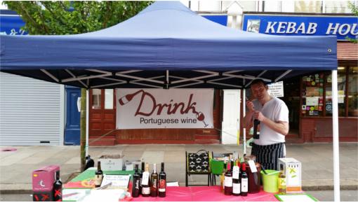 Portuguese wine stall
