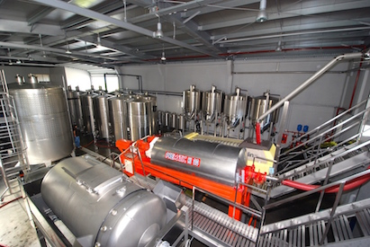 Wine production facilities at the Adega do Salvador.