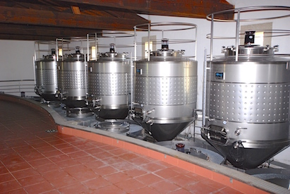 Tanks of wine at the Quinta de Lemos