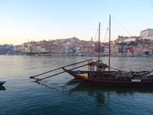 Traditional boat used for transporting Port wine down the Douro river