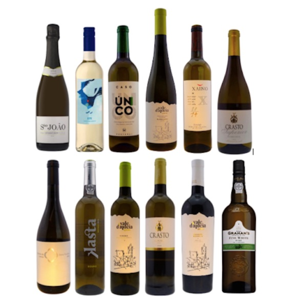 A selection of 12 Portuguese white wines