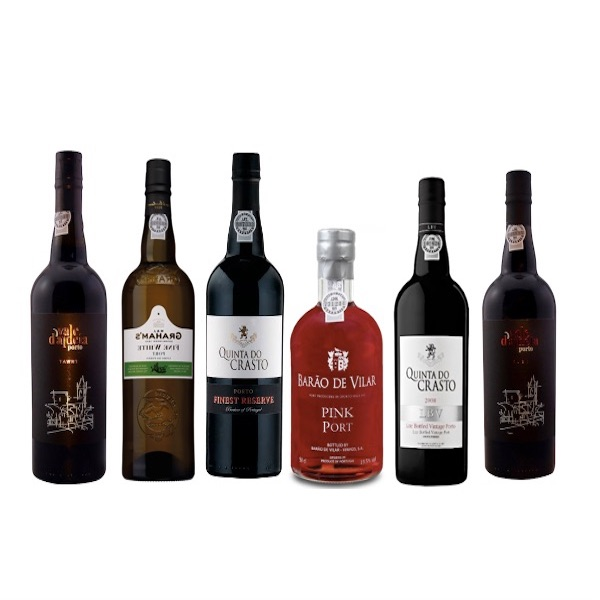 Mixed case of 6 Port wines