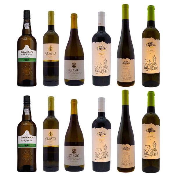 Selection of premium Portuguese white wines